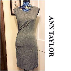 Ann Taylor Side Ruched  Sheath  Dress EUC